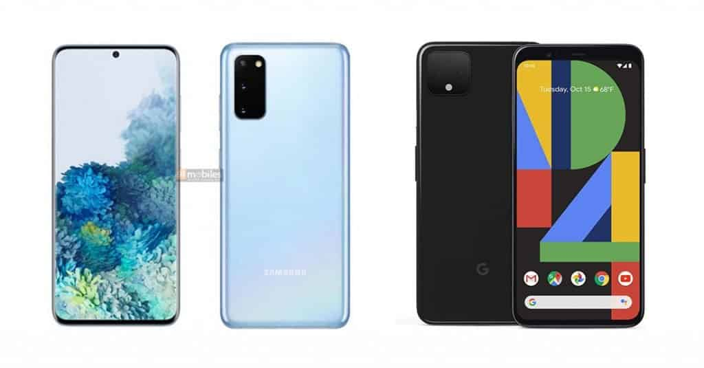 Samsung Galaxy S20 vs Pixel 4 Design