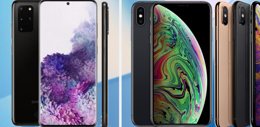 Samsung Galaxy S20+ vs iPhone Xs Max