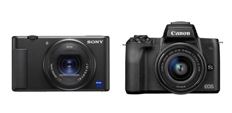 Sony ZV1 vs Canon M50 sensor
