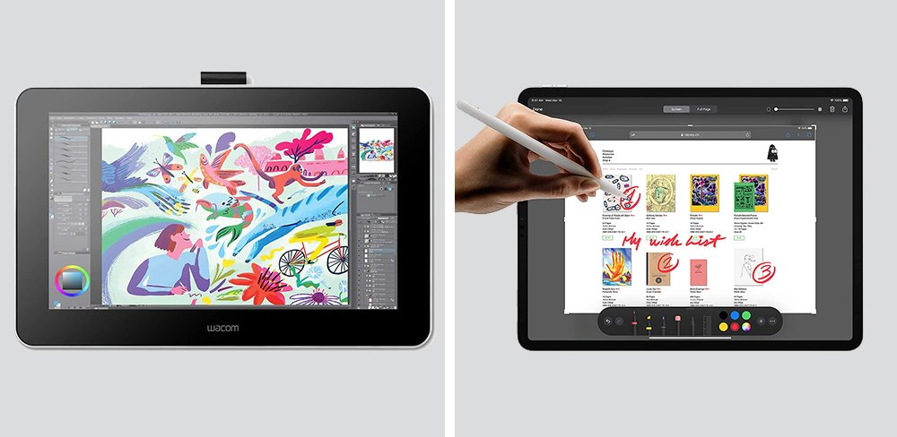 Wacom One vs iPad Pro Tablet Comparison