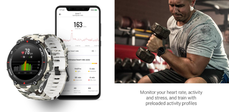 Amazfit T-Rex vs Garmin Instinct Outdoor Watch Comparison Health Features