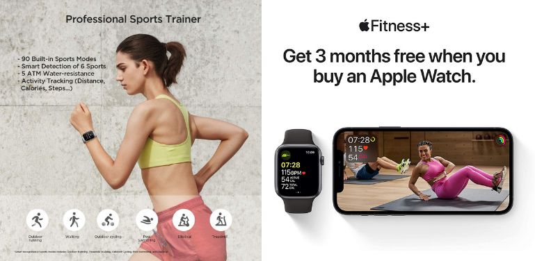 Amazfit GTS 2 vs Apple Watch Series 6 Sports and Fitness Tracking