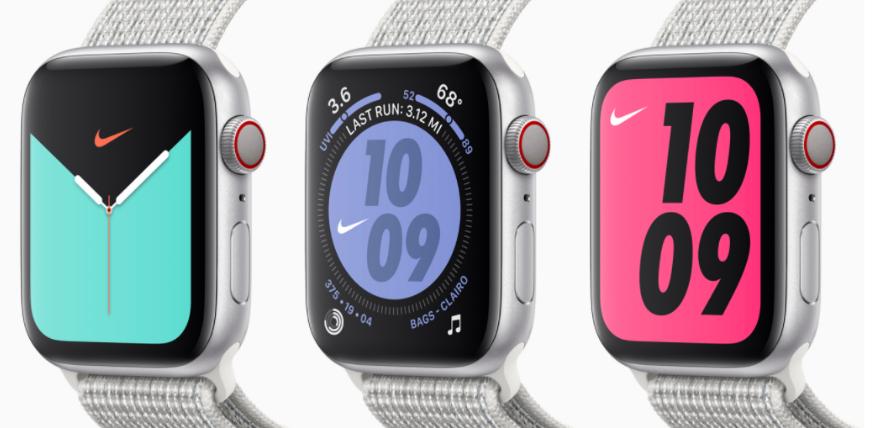 apple watch 5 vs nike watch faces