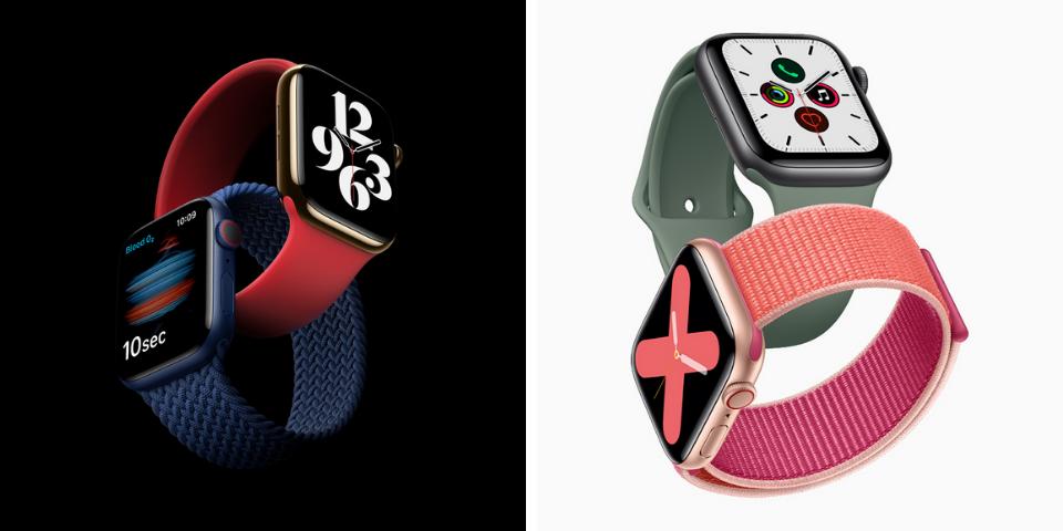 Apple Watch Series 6 vs 5 Pricing