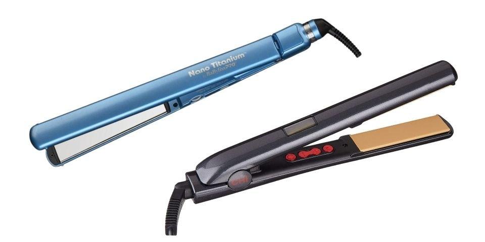 BaByliss PRO flat iron vs CHI G2 flat iron design