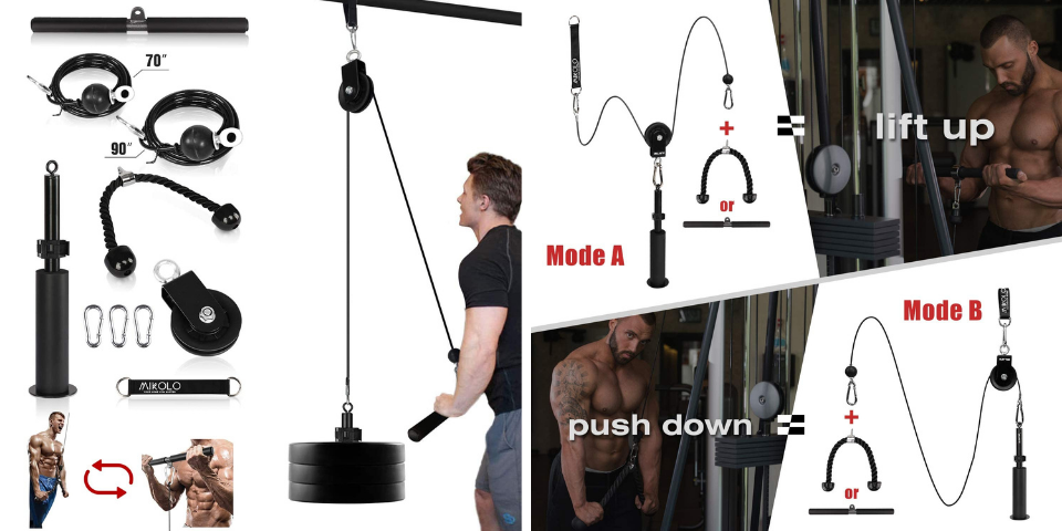 best home gym equipment pulley system