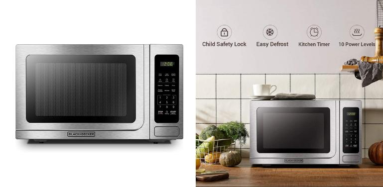 Best Microwave Oven Under $150 BLACK+DECKER EM036AB14 Digital Microwave Oven