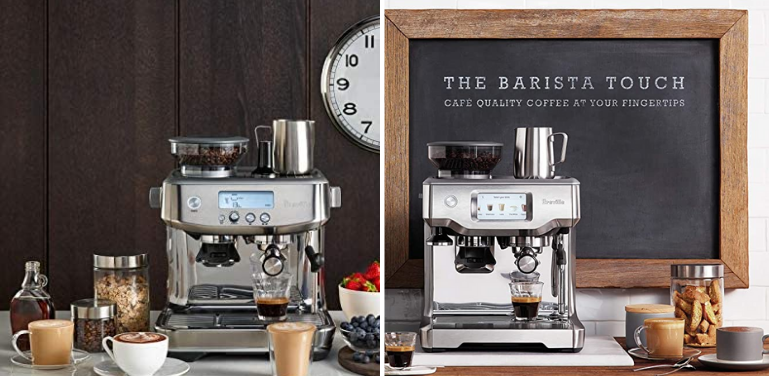 breville barista pro vs touch espresso machine