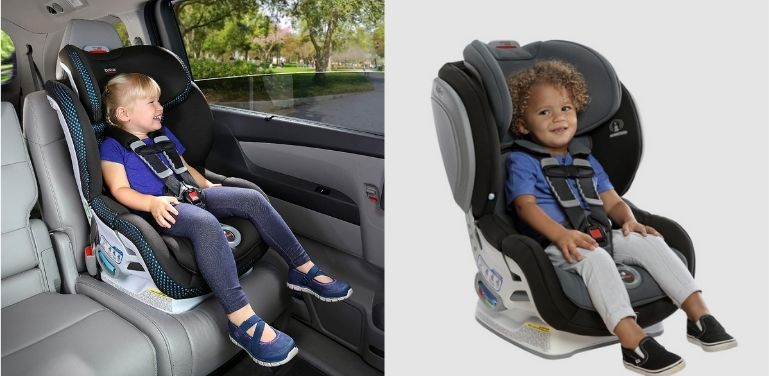 Britax Boulevard and Advocate in Front-Facing Mode