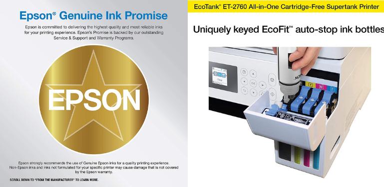 Epson EcoTank 2720 vs 2760 Ink Cost