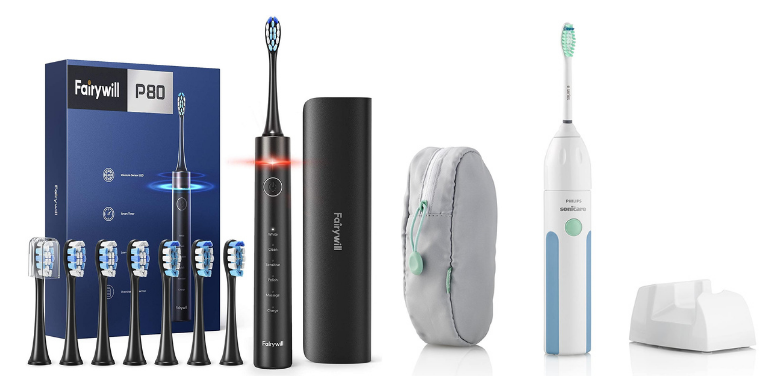 Fairywill vs Sonicare Best Electric Toothbrush for Travel