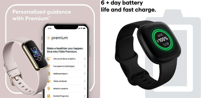 Fitbit Luxe vs Versa 3 Battery Life