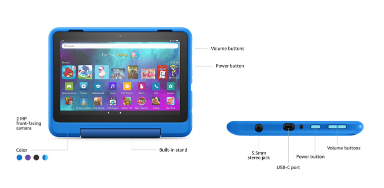 Fire HD 8 Kids Pro Hardware Features