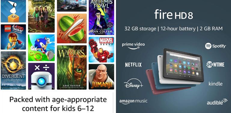 Fire HD 8 Kids Pro vs HD 8 Kids vs HD 8 Content and Subscriptions