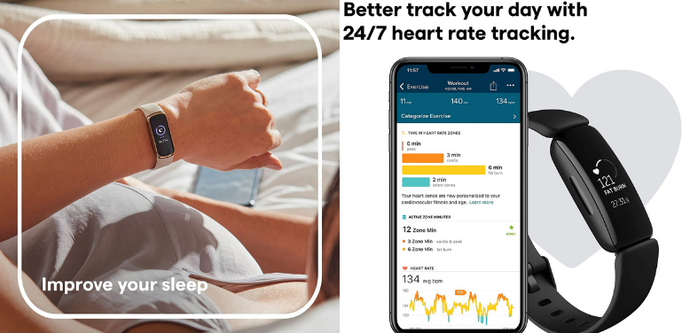 Fitbit Luxe vs Inspire 2 Health and Wellness Features