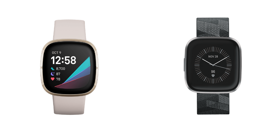Fitbit Sense vs Versa 2 Design and Specs