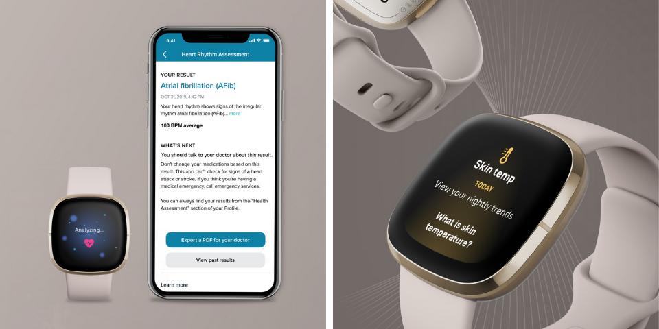 Fitbit Sense vs Versa 3 Health Tracking