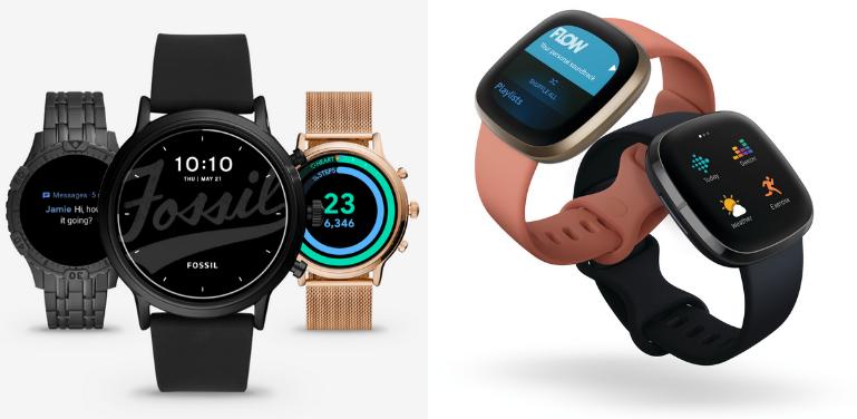 Fossil Gen 5 vs Fitbit Versa 3 Design