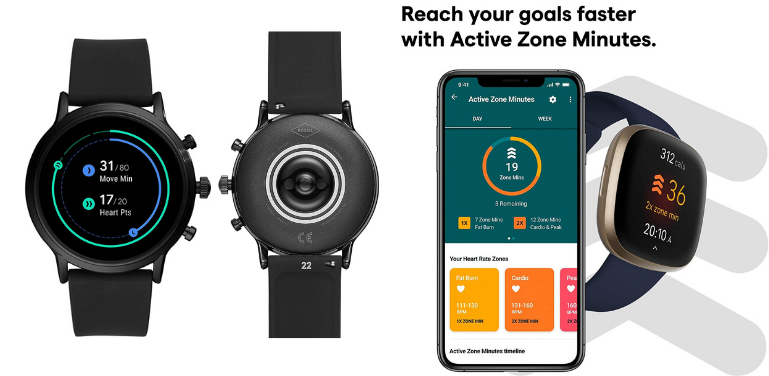 Fossil Gen 5 vs Fitbit Versa 3 Health and Fitness Features Comparison