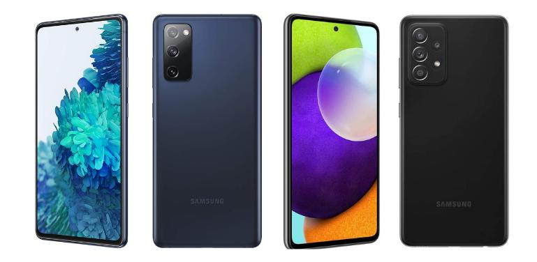 Samsung Galaxy S20 FE vs A52 Design and Display