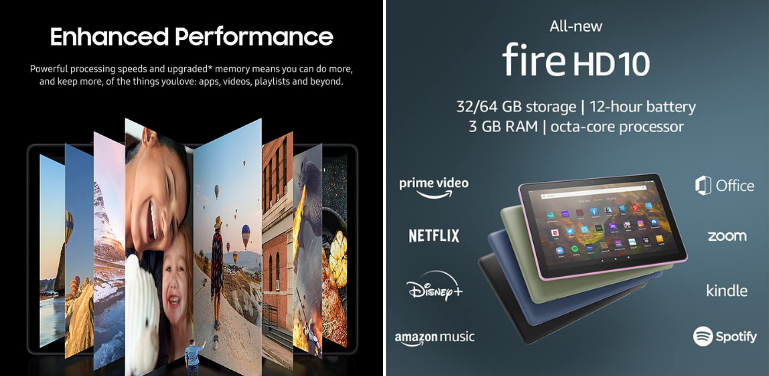 Samsung Galaxy Tab A7 vs Amazon Fire HD 10 Software and Performance