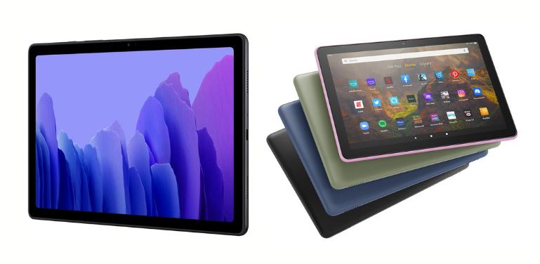 Galaxy Tab A7 vs Fire HD 10 Comparison