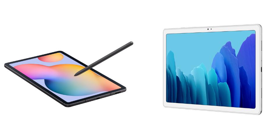 Galaxy Tab A7 vs S6 Lite Design and Build