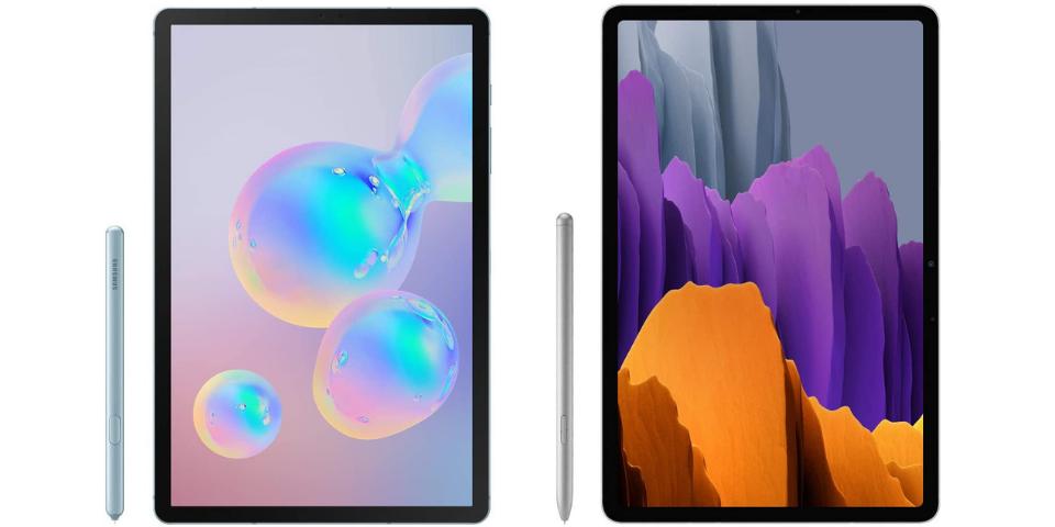 galaxy tab s6 vs s7 design and display