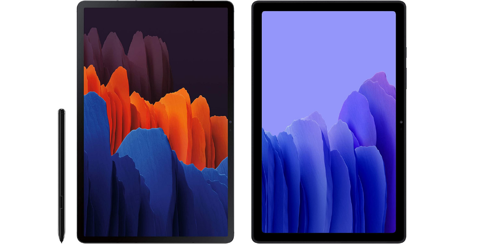 galaxy tab s7 vs a7 display