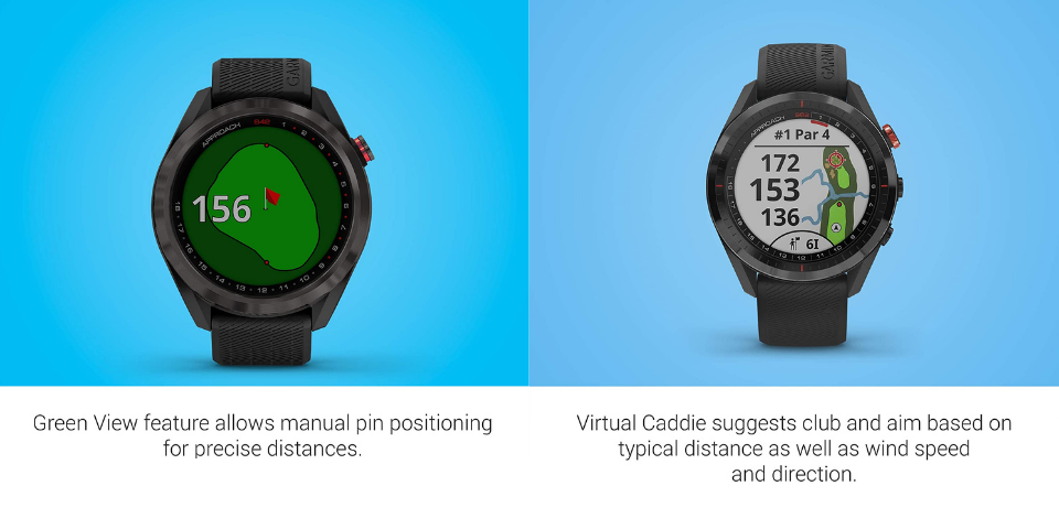 garmin approach s42 vs s62 tracking and features