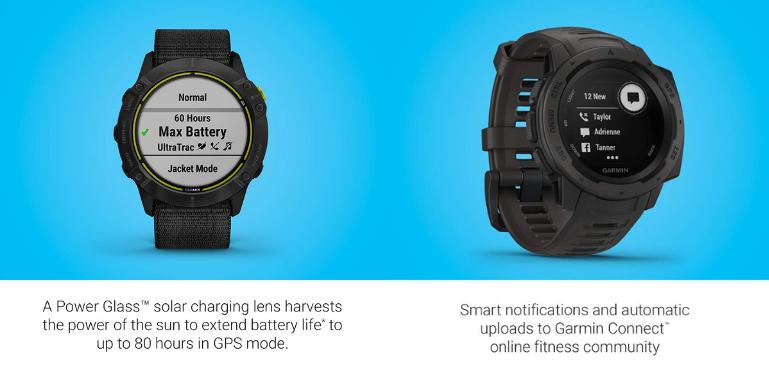 Garmin Enduro vs Instinct Smart Features and Battery Life