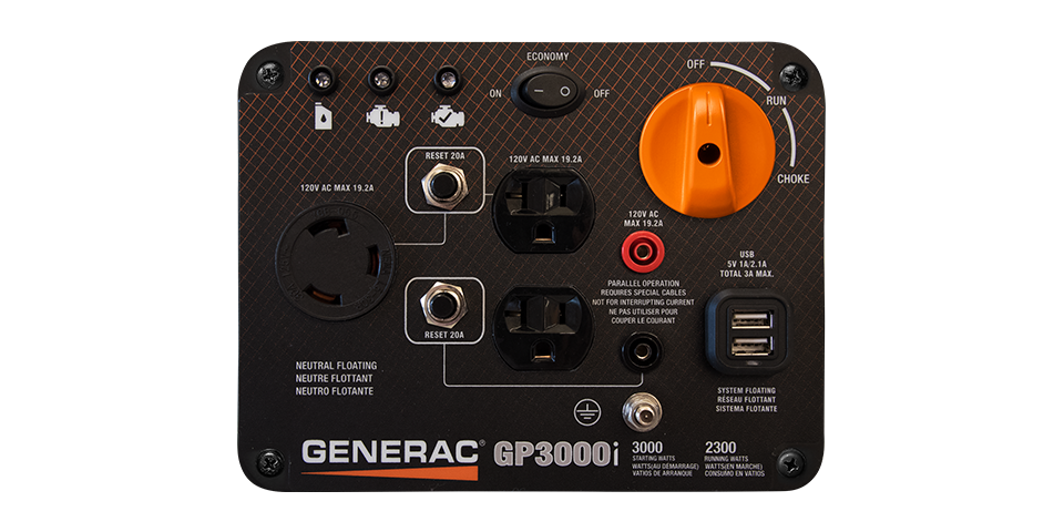 Generac GP3000i vs Honda Outlets and Starting Method