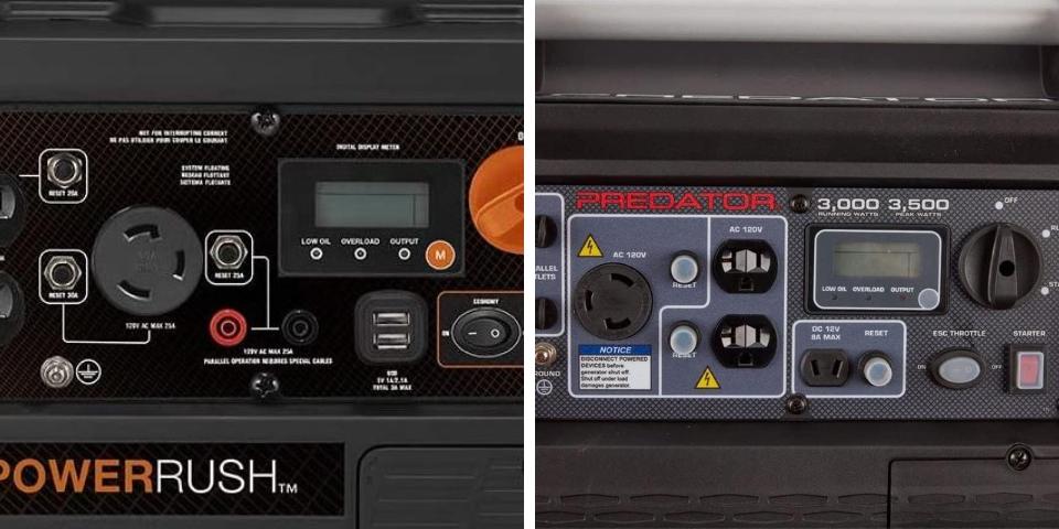Generac iQ3500 vs Predator 3500 Features