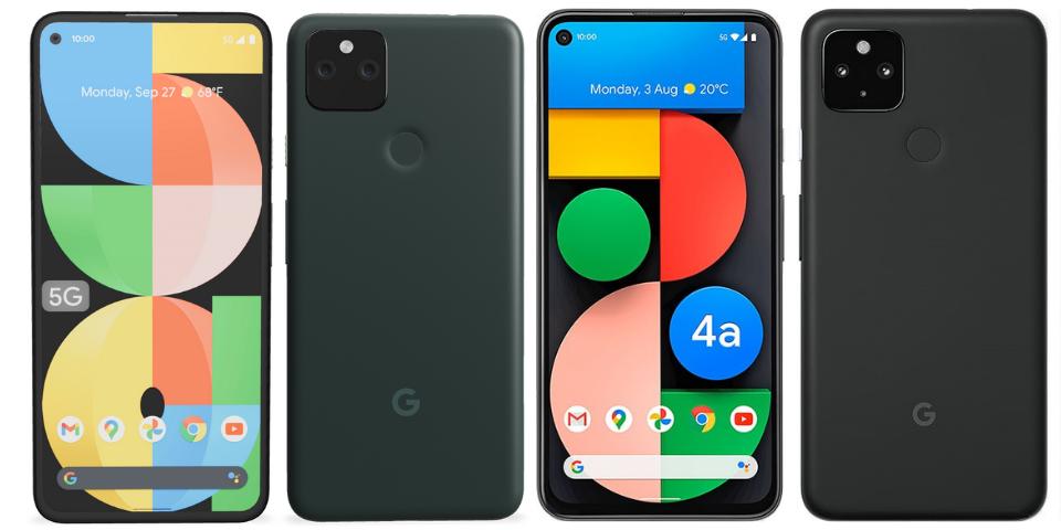 google pixel 5a vs 4a design
