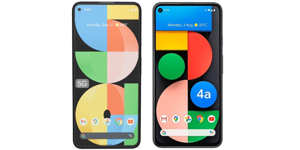 google pixel 5a vs 4a display