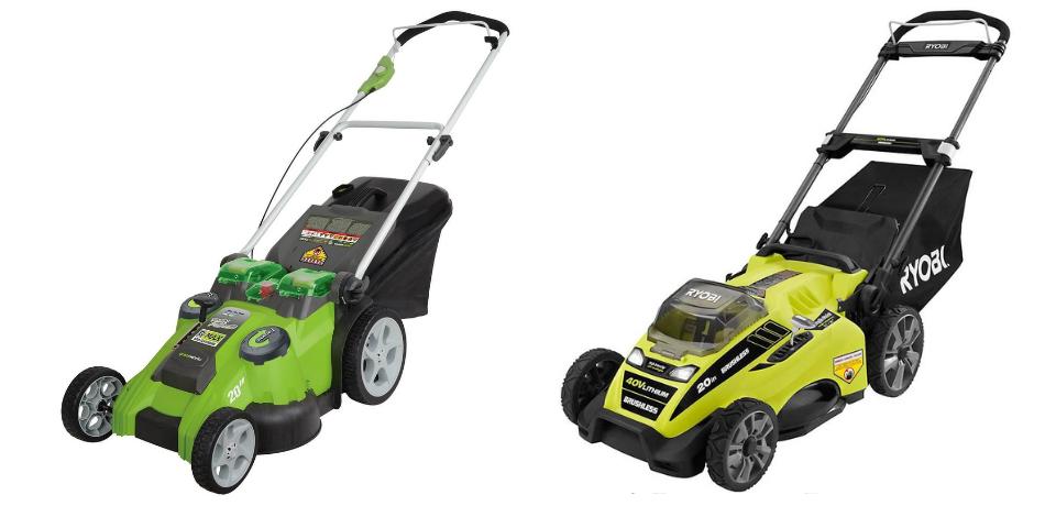greenworks vs ryobi lawn mower performance