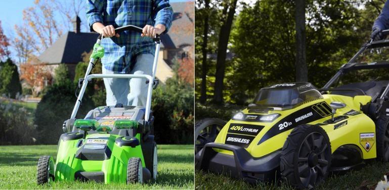 greenworks vs ryobi lawn mower