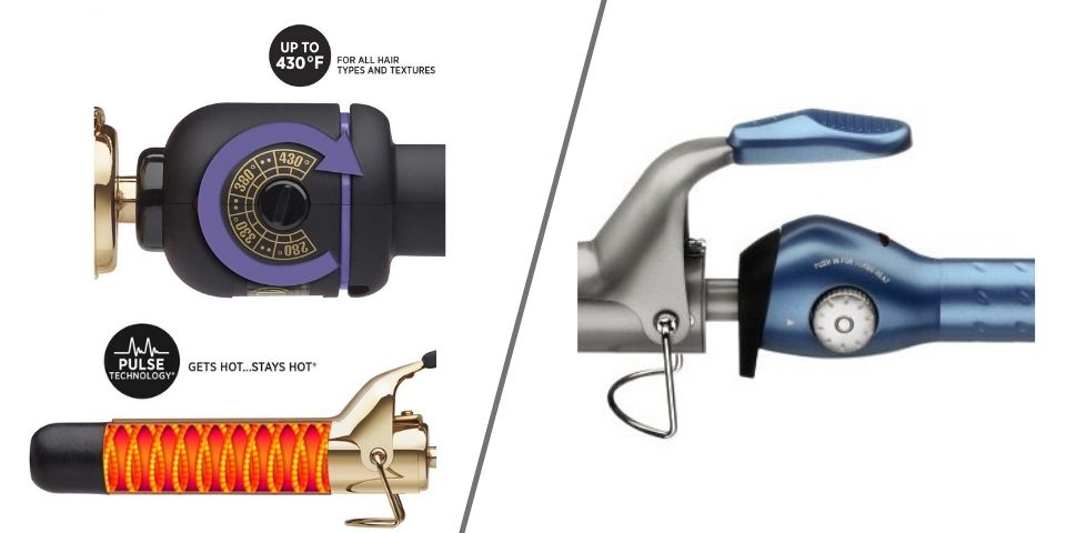 Heat features of HOT TOOLS and BaByliss curling irons