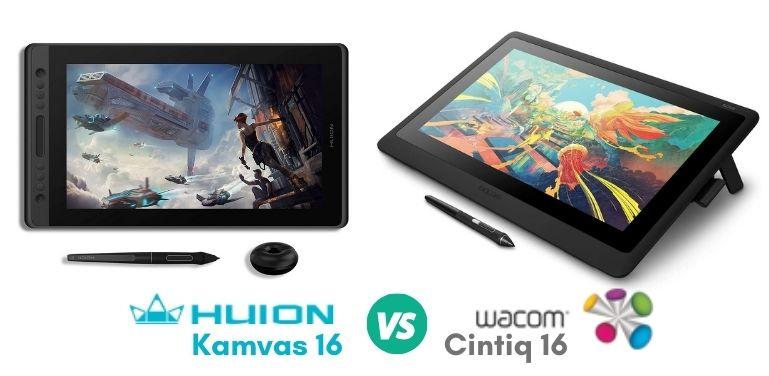 Huion Kamvas Pro 16 and Wacom Cintiq 16