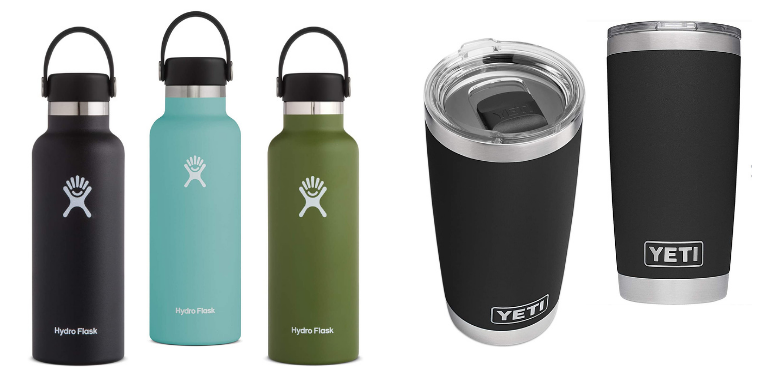 Hydro Flask vs YETI best sellers