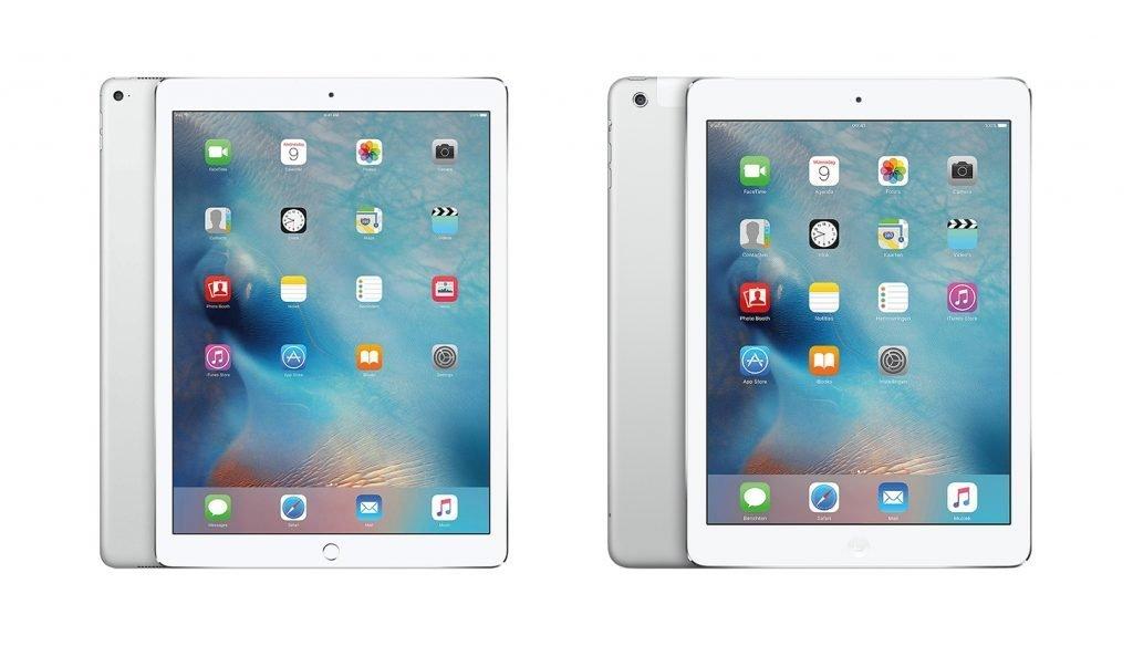 iPad Pro 9.7 vs Air 2 Design