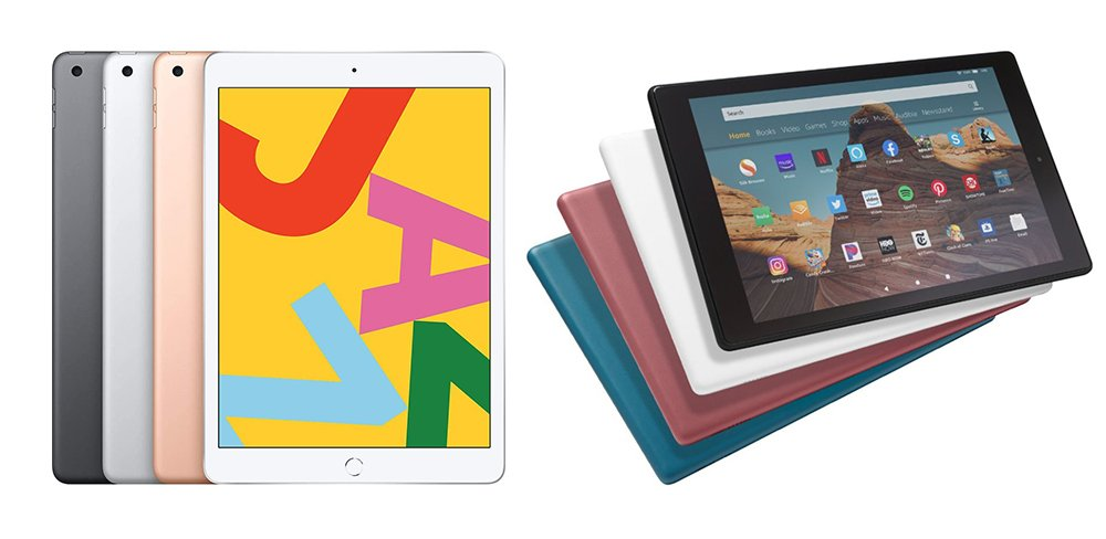 iPad vs Kindle Fire HD 10 (iPad 7th Gen) Comparison