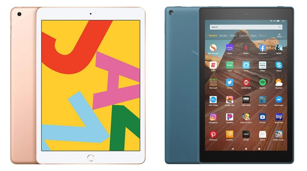 iPad vs Kindle Fire HD 10 (iPad 7th Gen) Design