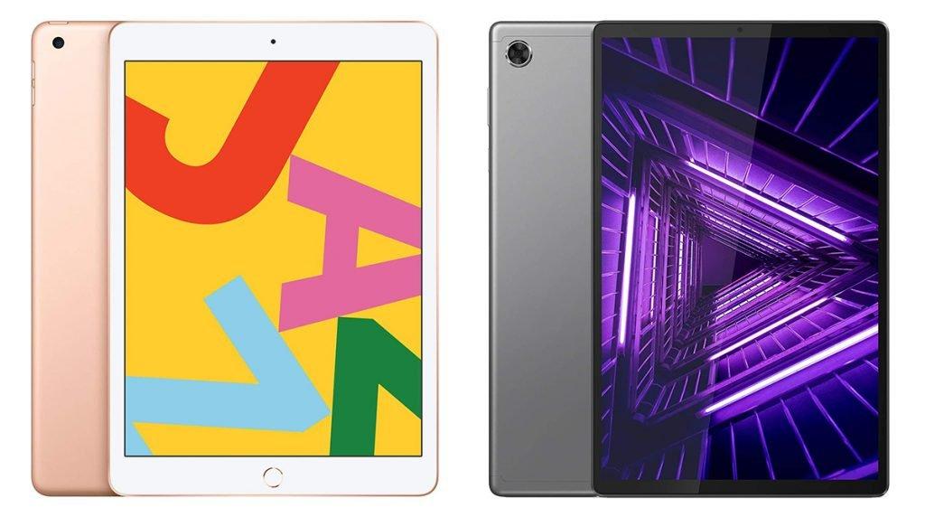 Apple iPad vs Lenovo Tablet (iPad 7th Gen vs Lenovo Tab M10 Plus) Design