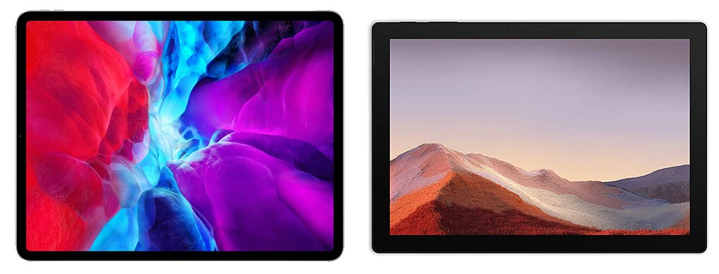 iPad vs Surface Pro 7 (iPad Pro 2020) Design