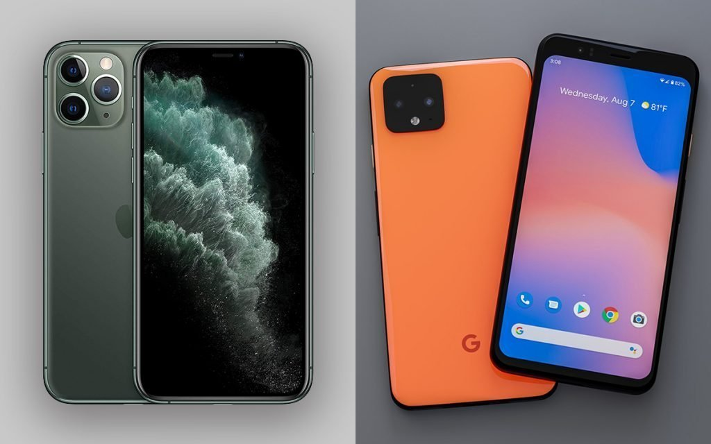 iPhone 11 Pro Max vs Pixel 4 XL Design