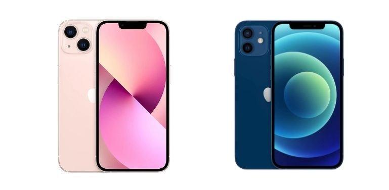 iPhone 13 vs 12 design