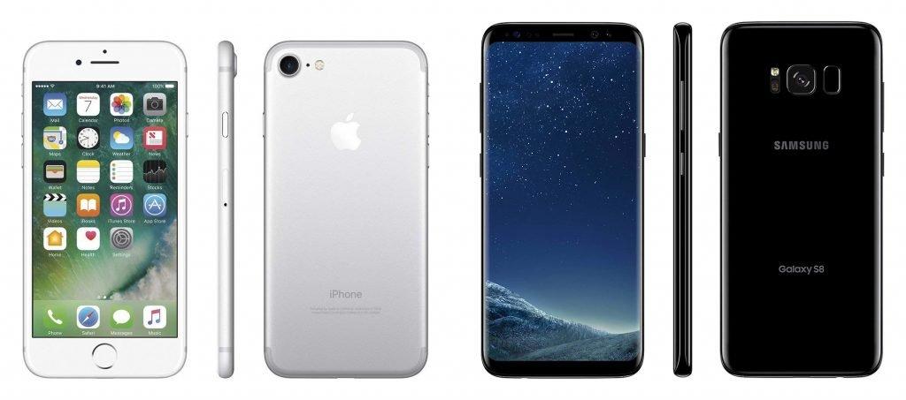 iPhone 7 vs Samsung S8 Design