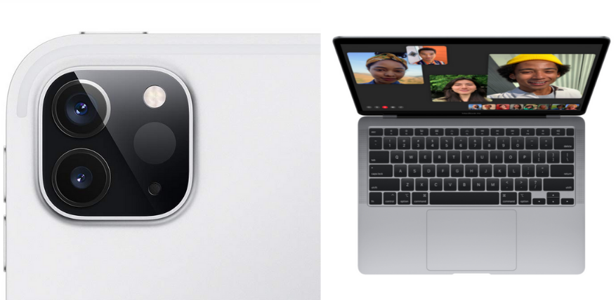 ipad pro camera and macbook air front cam