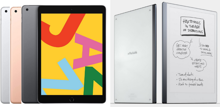 design and display ipad vs remarkable